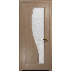 Ульяновская дверь Фрея-1 дуб стекло белое пескоструйное «сабина»