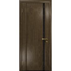 Ульяновская дверь Триумф-1 американский орех стекло триплекс черный с тканью