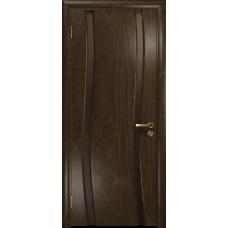 Ульяновская дверь Грация-2 американский орех тонированный стекло триплекс бронзовый