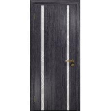 Ульяновская дверь Триумф-2 абрикос стекло триплекс белый 3d «куб»