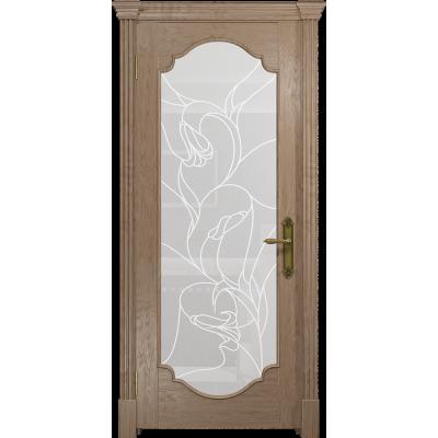Ульяновская дверь Валенсия-2 дуб стекло белое пескоструйное «кампанелла»