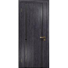 Ульяновская дверь Триумф-2 абрикос стекло триплекс черный «вьюнок» матовый