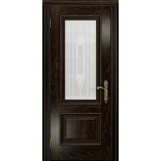 Ульяновская дверь Версаль-1 Декор ясень венге золото стекло белое пескоструйное «кардинал»
