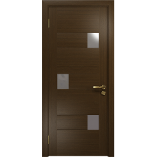 Ульяновская дверь Ронда-1 венге стекло триплекс зеркало