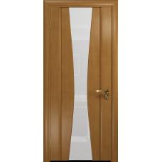 Ульяновская дверь Соната-2 анегри стекло триплекс белый