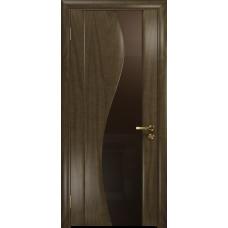 Ульяновская дверь Фрея-2 американский орех стекло триплекс бронзовый