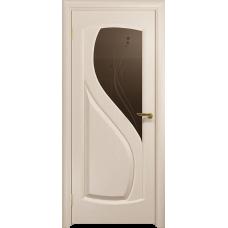 Ульяновская дверь Диона-1 дуб беленый стекло бронзовое пескоструйное «капля»