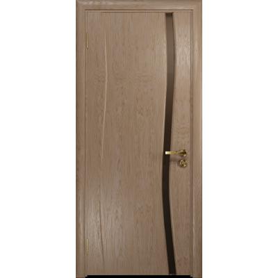 Ульяновская дверь Грация-1 дуб стекло триплекс бронзовый