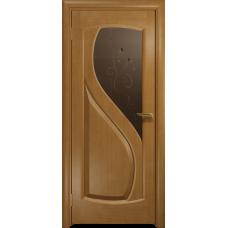 Ульяновская дверь Диона-1 анегри стекло бронзовое пескоструйное «лилия»