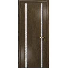 Ульяновская дверь Триумф-2 американский орех стекло триплекс белый 3d «куб»