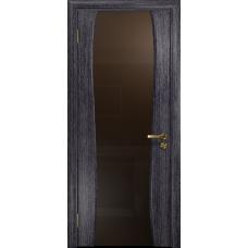 Ульяновская дверь Портелло-2 абрикос стекло триплекс бронзовый