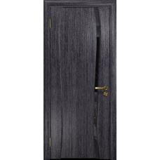 Ульяновская дверь Портелло-1 абрикос стекло триплекс черный «вьюнок» глянцевый