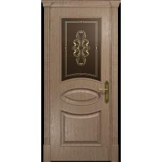 Ульяновская дверь Санремо дуб стекло бронзовое пескоструйное «вдохновение»