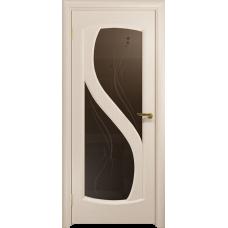 Ульяновская дверь Диона-2 дуб беленый стекло бронзовое пескоструйное «капля»