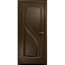 Ульяновская дверь Диона-1 венге стекло бронзовое пескоструйное «лилия»