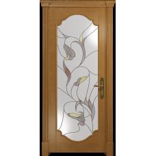 Ульяновская дверь Валенсия-2 анегри стекло витраж «кампанелла»