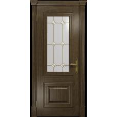 Ульяновская дверь Кардинал американский орех стекло витраж «адель»