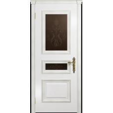 Ульяновская дверь Версаль-2 Декор эмаль белая стекло бронзовое пескоструйное «версаль-2»