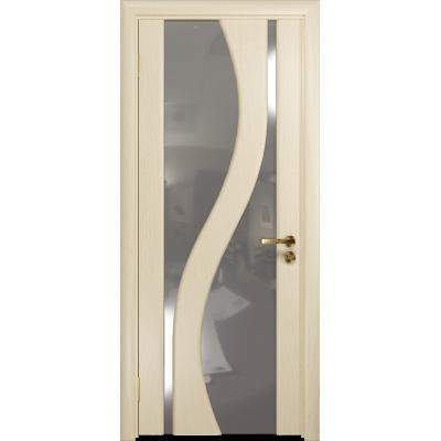 Ульяновская дверь Веста ясень слоновая кость стекло триплекс зеркало
