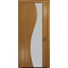Ульяновская дверь Фрея-2 анегри стекло триплекс белый с тканью