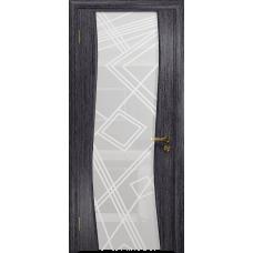 Ульяновская дверь Грация-3 абрикос стекло триплекс белый 3d «куб»