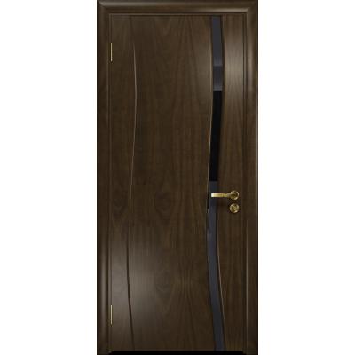 Ульяновская дверь Грация-1 американский орех тонированный стекло триплекс черный