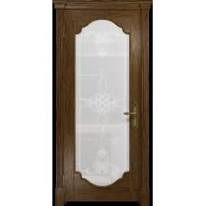 Ульяновская дверь Валенсия-2 сукупира стекло белое пескоструйное «валенсия»