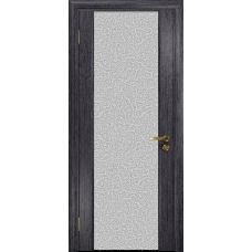 Ульяновская дверь Триумф-3 абрикос стекло триплекс белый с тканью