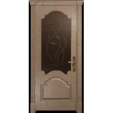 Ульяновская дверь Валенсия-1 дуб стекло бронзовое пескоструйное «фиор»