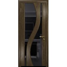 Ульяновская дверь Веста американский орех стекло триплекс черный