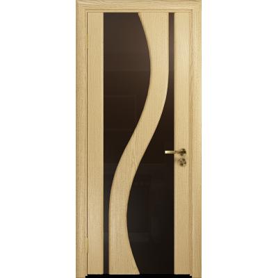 Ульяновская дверь Веста ясень ваниль стекло триплекс бронзовый