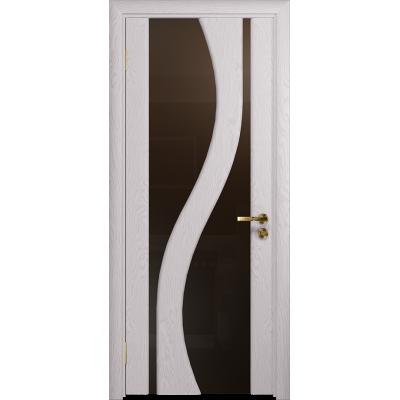 Ульяновская дверь Веста ясень белый стекло триплекс бронзовый