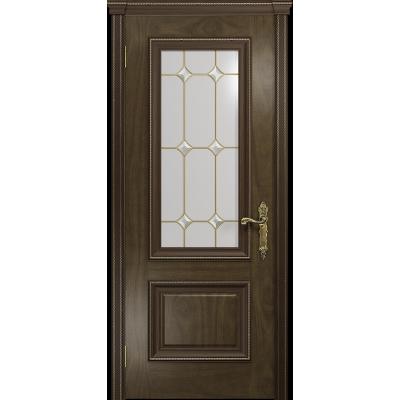 Ульяновская дверь Версаль-1 американский орех стекло витраж «адель»