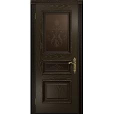 Ульяновская дверь Версаль-2 Декор ясень венге стекло бронзовое пескоструйное «версаль-2»