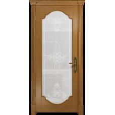 Ульяновская дверь Валенсия-2 анегри стекло белое пескоструйное «валенсия»
