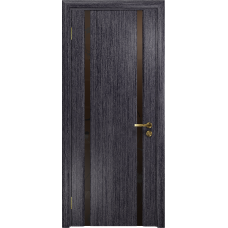 Ульяновская дверь Триумф-2 абрикос стекло триплекс бронзовый «вьюнок» матовый