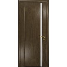 Ульяновская дверь Триумф-1 американский орех стекло триплекс белый