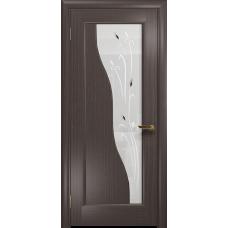 Ульяновская дверь Торино эвкалипт стекло белое пескоструйное «рами»