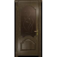 Ульяновская дверь Валенсия-1 американский орех стекло бронзовое пескоструйное «фиор»