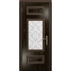 Ульяновская дверь Версаль-4 ясень венге золото стекло белое пескоструйное «ковер»
