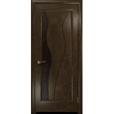 Ульяновская дверь Энжел американский орех тонированный стекло бронзовое пескоструйное «лилия»