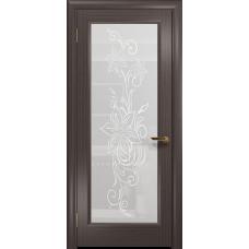 Ульяновская дверь Миланика-1 эвкалипт стекло белое пескоструйное «миланика-1»