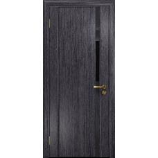 Ульяновская дверь Триумф-1 абрикос стекло триплекс черный