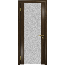 Ульяновская дверь Триумф-3 американский орех тонированный стекло триплекс белый с тканью