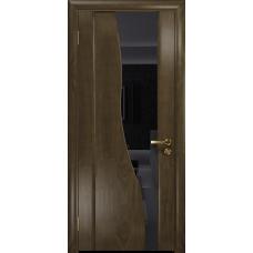 Ульяновская дверь Торелло американский орех стекло триплекс черный