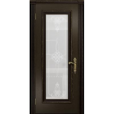 Ульяновская дверь Версаль-5 Декор ясень венге стекло белое пескоструйное «валенсия»