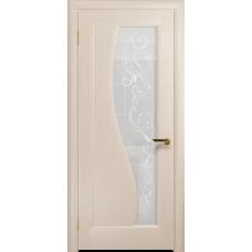 Ульяновская дверь Фрея-1 дуб беленый стекло белое пескоструйное «сабина»