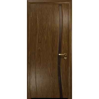 Ульяновская дверь Грация-1 сукупира стекло триплекс бронзовый «вьюнок» глянцевый