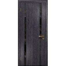 Ульяновская дверь Триумф-2 абрикос стекло триплекс черный 3d «куб»