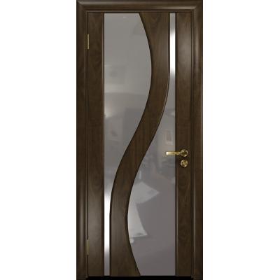 Ульяновская дверь Веста американский орех тонированный стекло триплекс зеркало